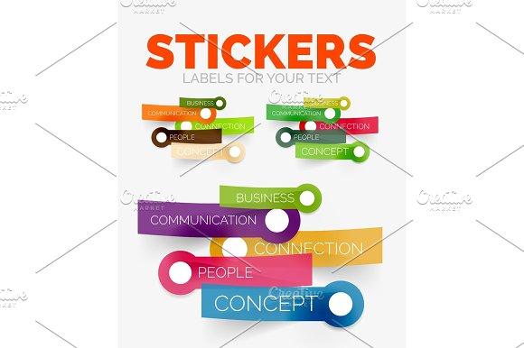Vector Design Elements Set Of Colour Paper Sticker Icons