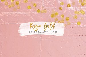 Faux Rose Gold Foil Paper