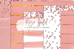 Rose gold foil scrapbooking