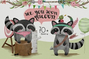 See you soon, racoon! Graphics