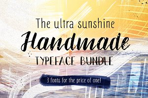 % SALE - Handmade font bundle