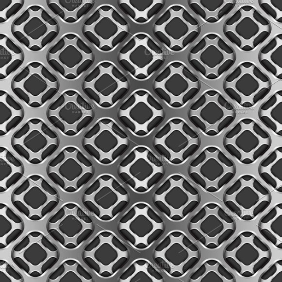 Glossy Metallic Grid Pattern