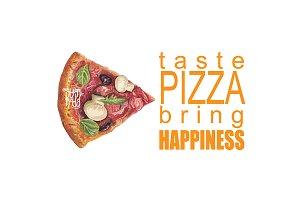 Pizza Watercolor Image