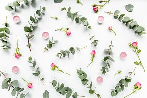 Floral pattern of roses