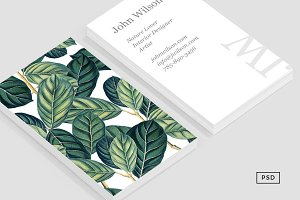Botany Business Card Template