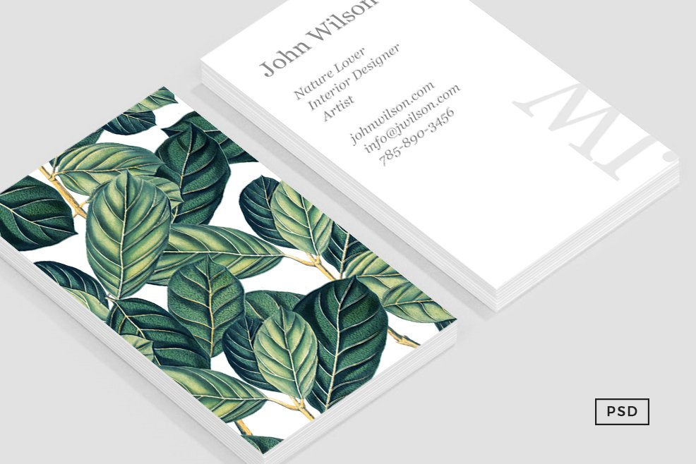 Botany business card template business card templates creative botany business card template business card templates creative market reheart Image collections