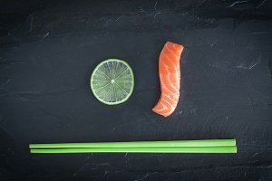 Salmon and lime