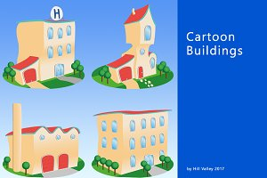 Cartoon style Buildings