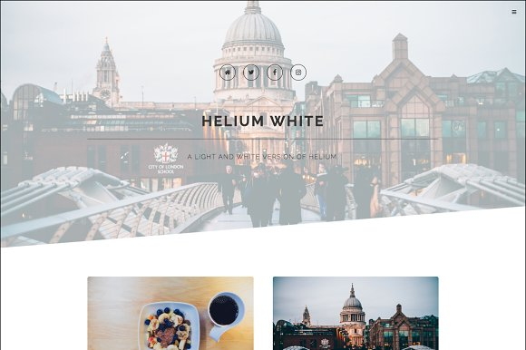 Helium White Blog Ghost Theme