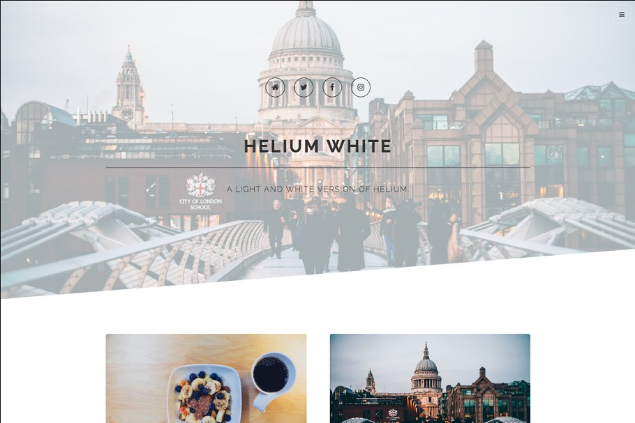 Helium White Blog Ghost Theme