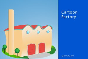 Cartoon style factory