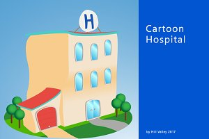 Cartoon style hospital