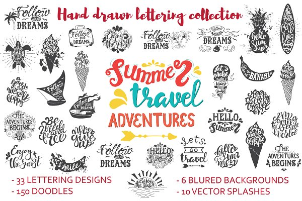 Hand drawn lettering quotes. DIY