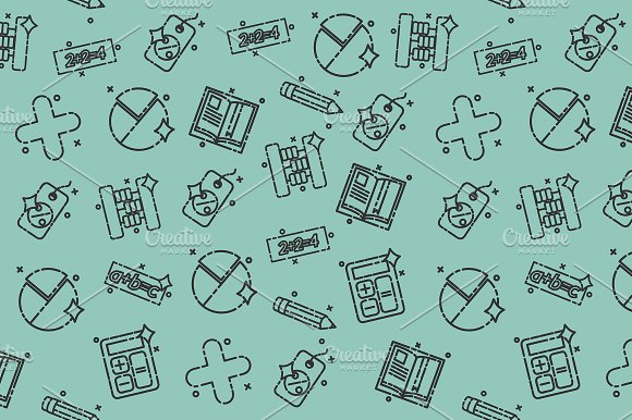 Algebra Concept Icons Pattern