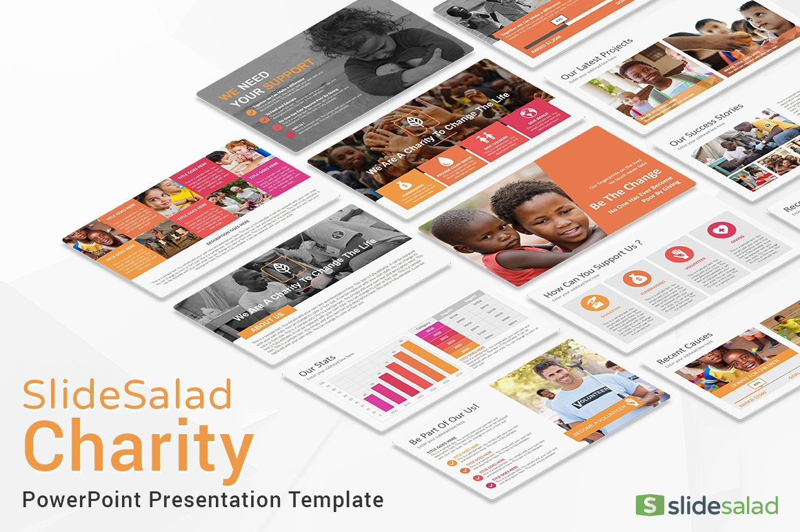 Charity powerpoint template presentation templates creative market toneelgroepblik Image collections