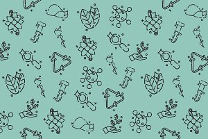 Biology concept icons pattern