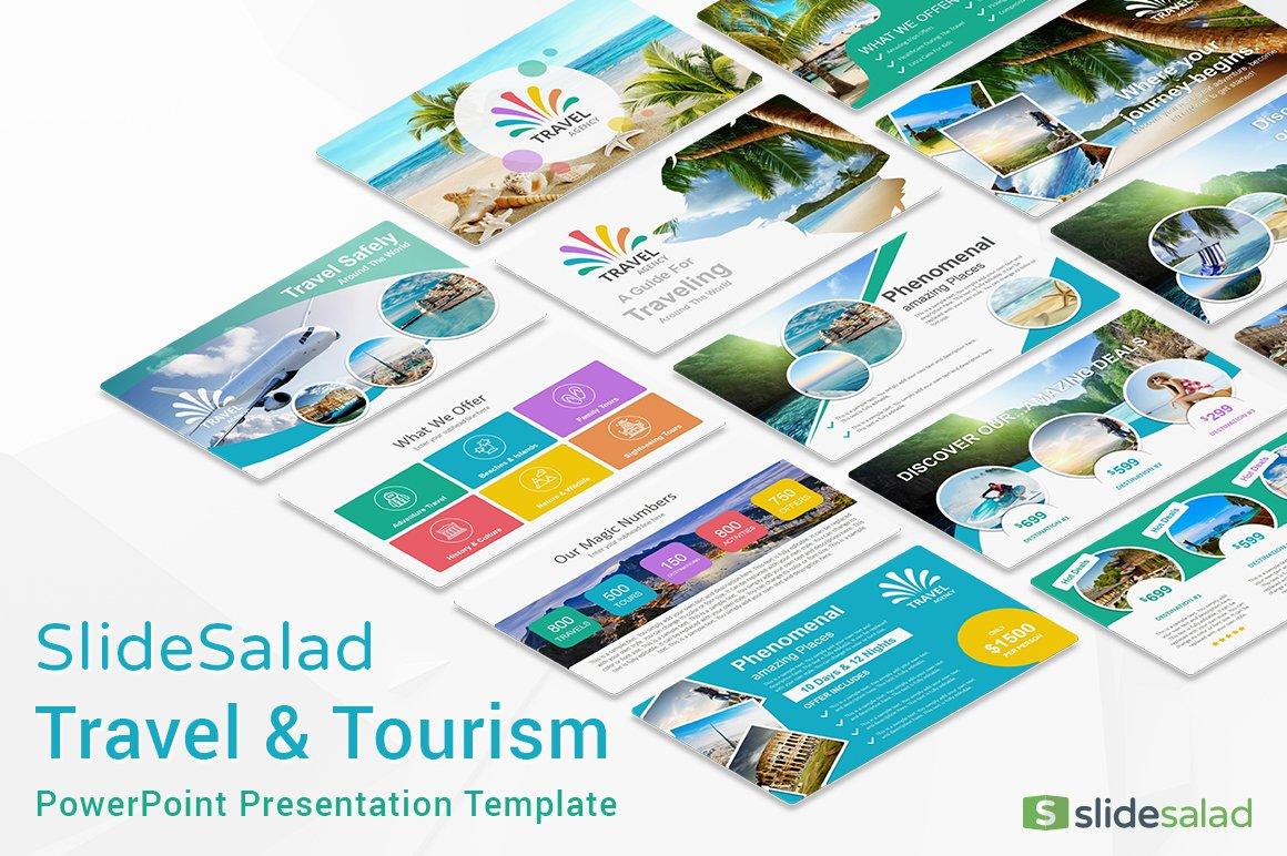 Travel agency powerpoint template presentation templates travel agency powerpoint template presentation templates creative market toneelgroepblik Image collections