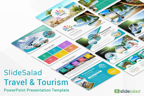 Travel agency powerpoint template presentation templates travel agency powerpoint template presentation templates creative market toneelgroepblik Choice Image