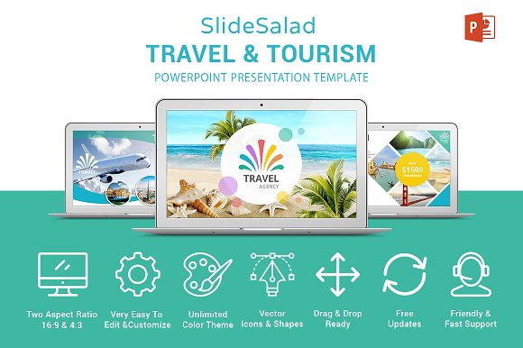 travel agency powerpoint template presentation templates creative market
