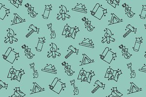 Boy scouts concept icons pattern