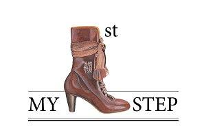 Shoe Watercolor Image