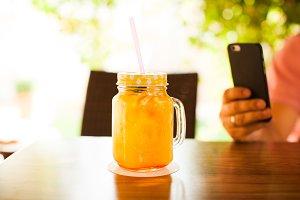 Fresh orange pleasure