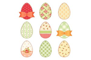 Lovely vintage Easter eggs in shabby chic style