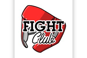 Color vintage fight club emblem