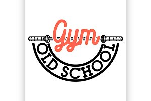 Color vintage gym emblem