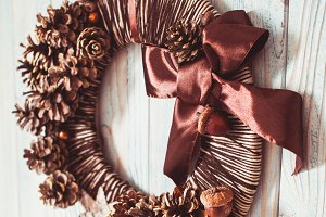 Natural eco Christmas wreath