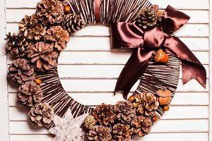 Eco natural Christmas wreath