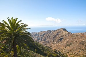 mountains of the island Gomera