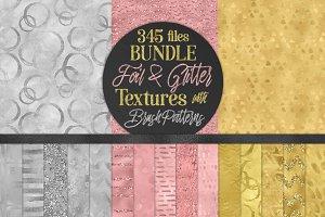 Foil & Glitter Textures Bundle