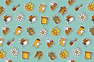 Apiary icons pattern