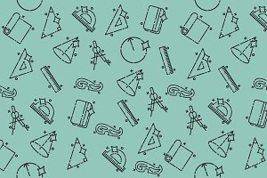 Geometry concept icons pattern