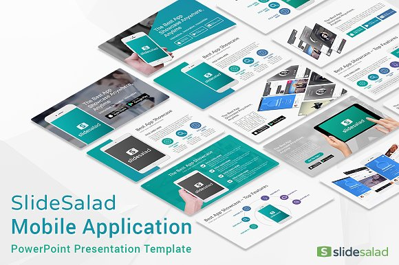 mobile apps powerpoint template presentation templates creative