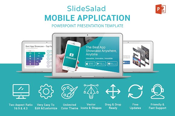 Mobile apps powerpoint template presentation templates mobile apps powerpoint template presentation templates creative market toneelgroepblik Gallery