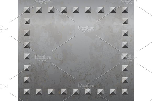 Metal Background With Rivets