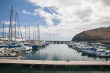port of the island of Gomera