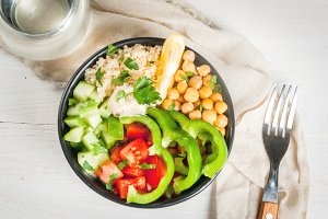 Vegan buddha bowl salad