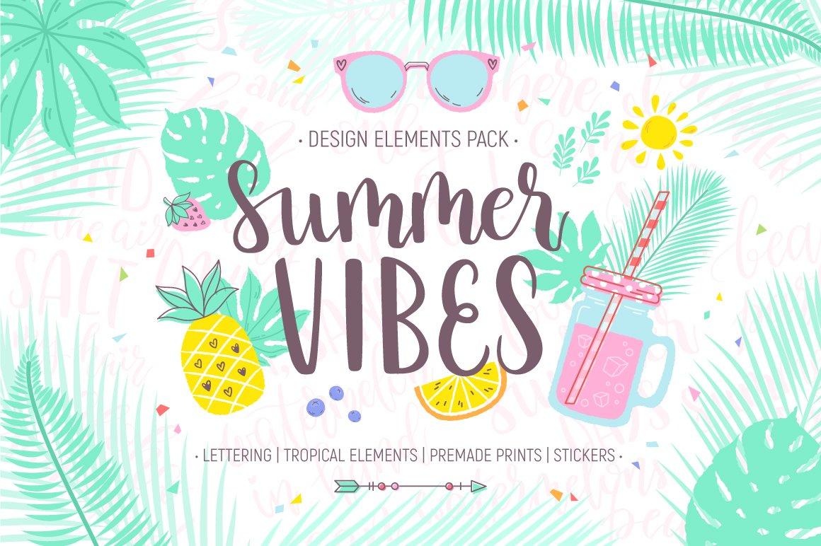 Summer Vibes Design Pack Illustrations Creative Market