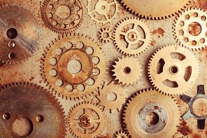 Steampunk gears background