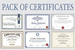 Pack of Certificates