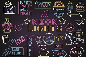 Neon Bar Lights Sign Mega Set
