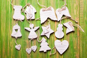 Wooden Christmas decor