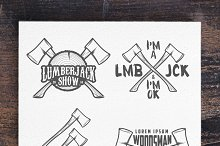 Lumberjack labels and badges (set 1)