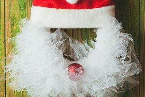 Christmas wreath like Santa