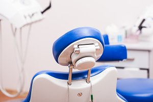 Chair in dental clinic
