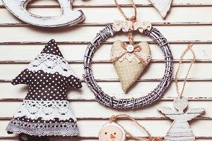 Shabby Christmas toys