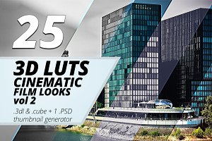3d Luts - Cinematic Film Looks vol 2